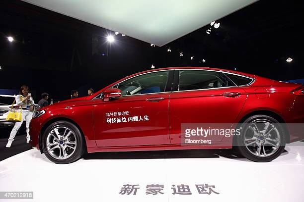 A Ford Motor Co Mondeo vehicle is displayed at a media event ahead of the 16th Shanghai International Automobile Industry Exhibition in Shanghai...