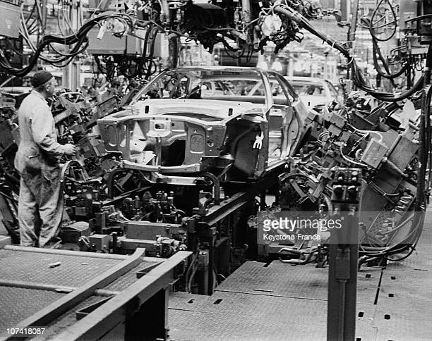 Ford Motor Company Assembly Of Ford Pinto Car At Saint Thomas In Ontario On August 1970