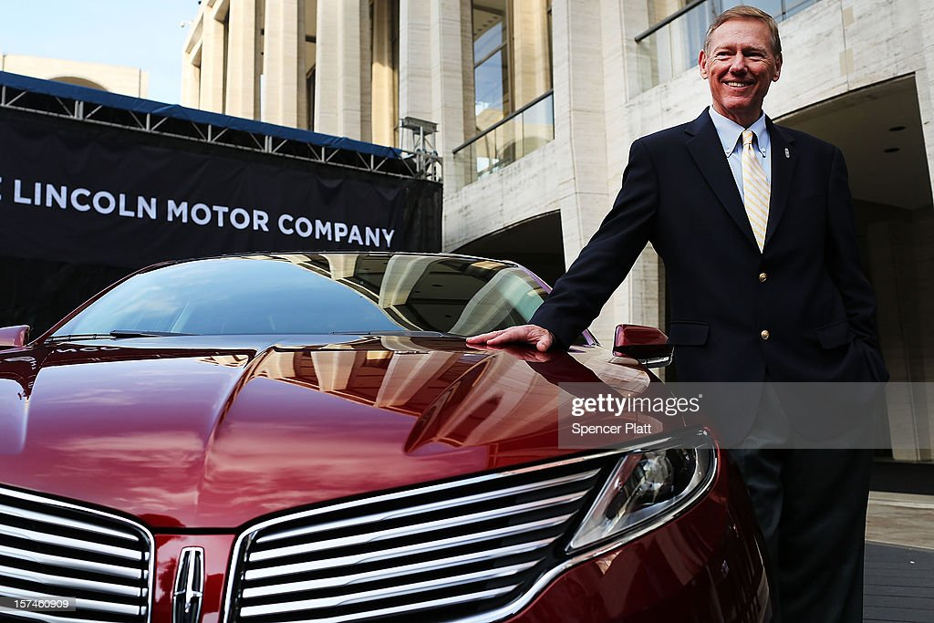 Ford Motor Company President and CEO <a gi-track='captionPersonalityLinkClicked' href=/galleries/search?phrase=Alan+Mulally+-+Businessman&family=editorial&specificpeople=226958 ng-click='$event.stopPropagation()'>Alan Mulally</a> stands beside a new Lincoln Motor Company MKZ sedan at a media launch in front of Avery Fisher Hall, Lincoln Center Plaza on December 3, 2012 in New York City. Ford is renaming its Lincoln division as the Lincoln Motor Co., as it looks to revive the luxury brand. The MKZ will arrive at dealerships later this month and will start at $35,925. The MKZ is the first of seven new Lincoln's that will go on sale by 2015.