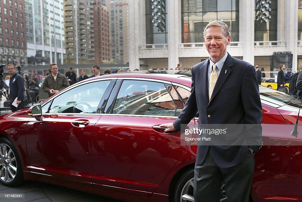 Ford Motor Company President and CEO Alan Mulally stands beside a new Lincoln Motor Company MKZ sedan at a media launch in front of Avery Fisher Hall, Lincoln Center Plaza on December 3, 2012 in New York City. Ford is renaming its Lincoln division as the Lincoln Motor Co., as it looks to revive the luxury brand. The MKZ will arrive at dealerships later this month and will start at $35,925. The MKZ is the first of seven new Lincoln's that will go on sale by 2015.