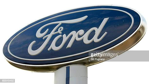 Ford Motor Company sign stands at a Ford dealership November 3 2008 in Troy Michigan Ford reported its October sales were down thirty percent from...