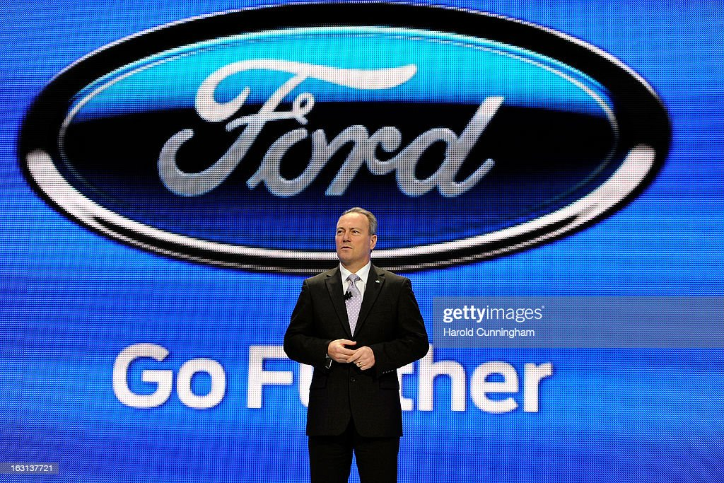 Ford Motor Company Stephen Odell Executive Vice President and President of Europe, Middle East and Africa, delivers a speech during the 83rd Geneva Motor Show on March 5, 2013 in Geneva, Switzerland. Held annually the Geneva Motor Show is one of the world's five most important auto shows with this year's event due to unveil more than 130 new products.