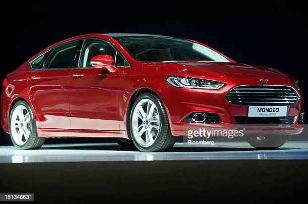 Ford Motor Co's new Mondeo Titanium automobile is displayed during the company's 'Go Further' launch event at the Ziggo Dome in Amsterdam Netherlands...