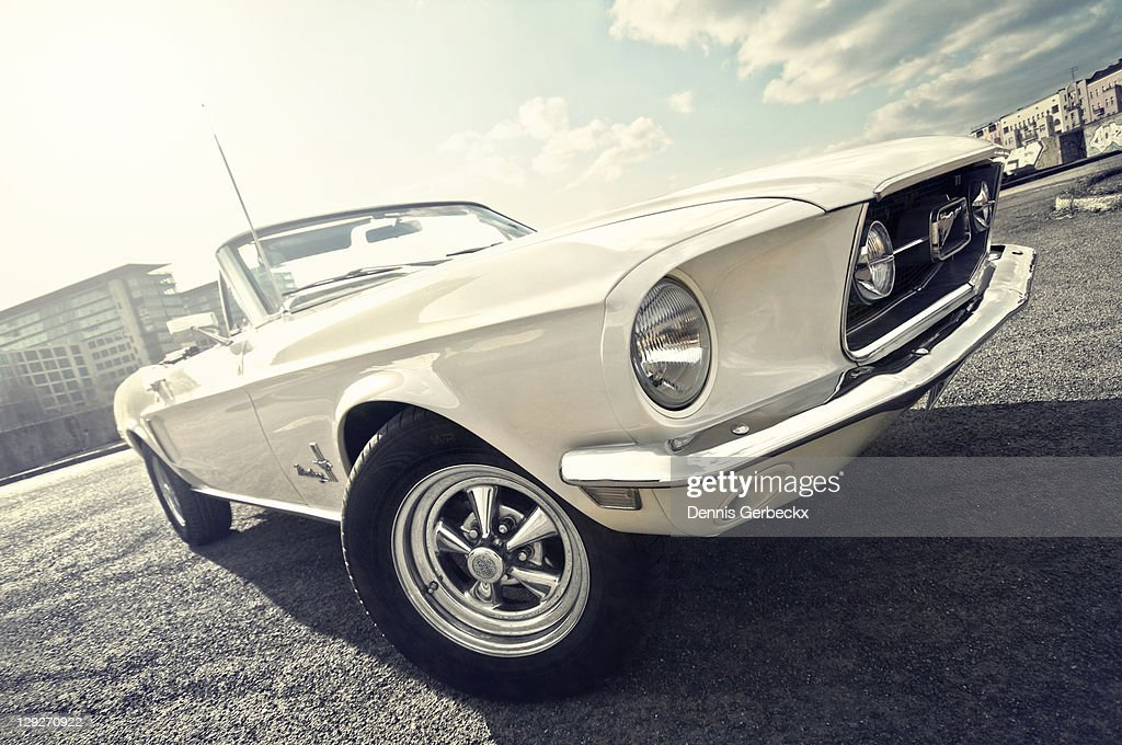 1968 Ford mustang convertible : Stock Photo