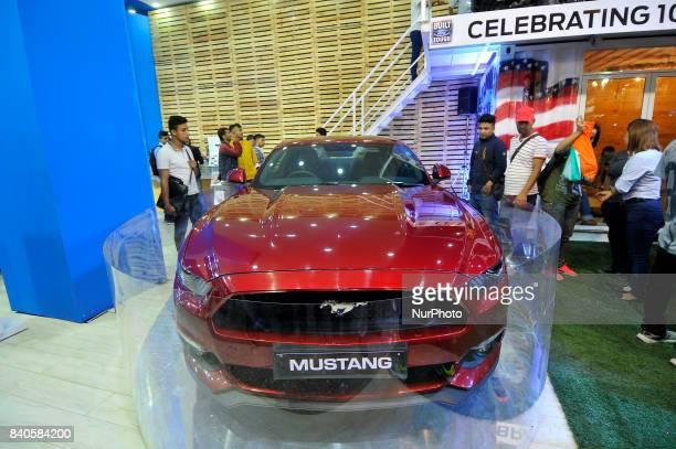Ford Mustang GT Premium Fastback Sports Car is on display at the 12th Annual Nepals biggest NADA Auto at Bhikuti Mandap Kathmandu Nepal on Tuesday...