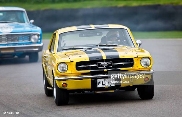 Ford Mustang in the Pierpoint Cup race during the 75th Member's Meeting at Goodwood on March 18 2017 in Chichester England