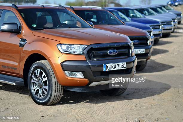 Ford Ranger vehicles in a row
