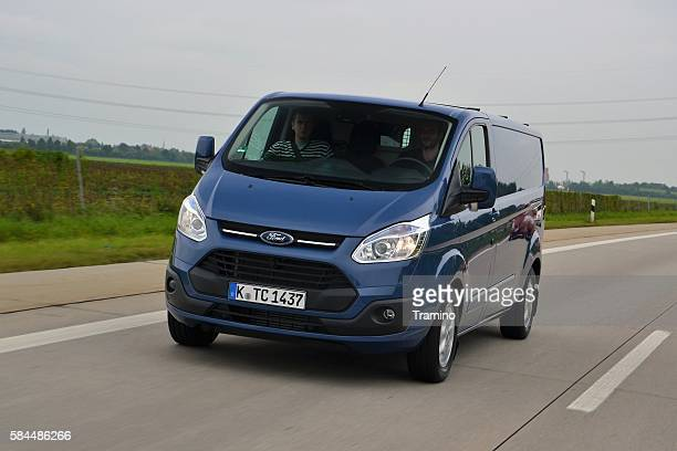 Ford Transit Custom on the highway