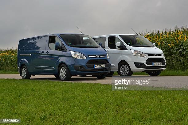 Ford Transit Custom vehicles on the road
