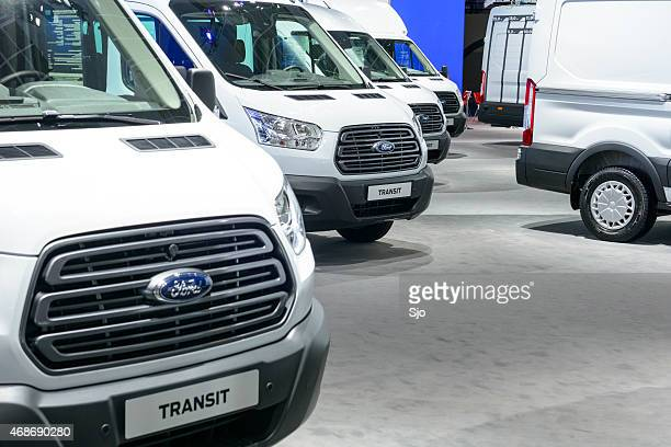Ford Transit Vans in a row