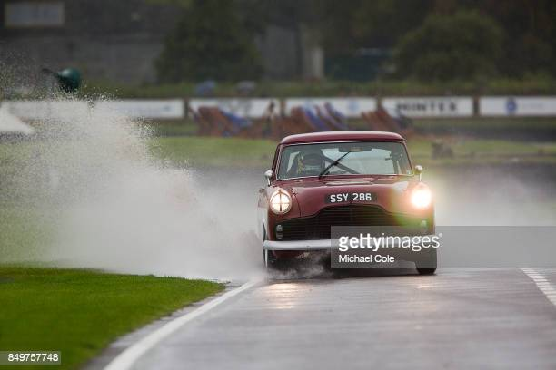 Ford Zodiac entrant Theo Paphitis driven by Andy Priaulx in the St Mary's Trophy at Goodwood on September 8th 2017 in Chichester England