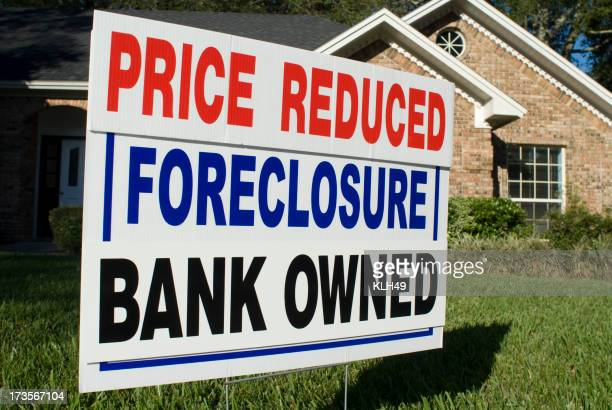 Saisie immobilière, prix réduit, Bank détenus Panneau arrière-cour