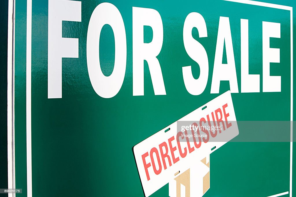 Foreclosure sign : Stock Photo