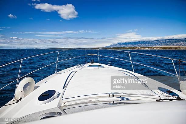 Vordeck modernen yacht