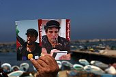 Foreign activists and Palestinians mark the second anniversary of the murder of Italian peace activist Vittorio Arrigoni on April 15 2013 in Gaza...