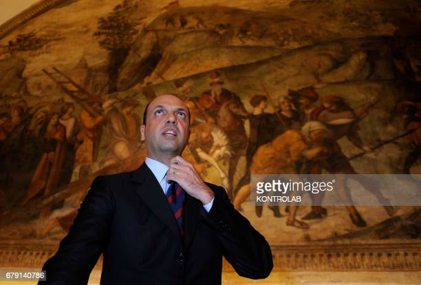Foreign Affairs Italian Minister Angelino Alfano visit in Naples city