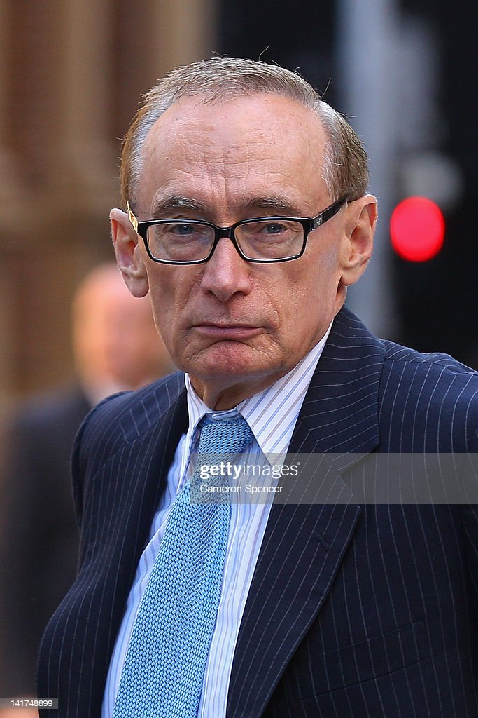 Foreign Affairs Minister <a gi-track='captionPersonalityLinkClicked' href=/galleries/search?phrase=Bob+Carr&family=editorial&specificpeople=209391 ng-click='$event.stopPropagation()'>Bob Carr</a> arrives at the memorial service for Margaret Whitlam at St James Anglican Church on March 23, 2012 in Sydney, Australia. Mrs Whitlam, wife of former Australian Prime Minister Gough Whitlam died alst week at the age of 92.
