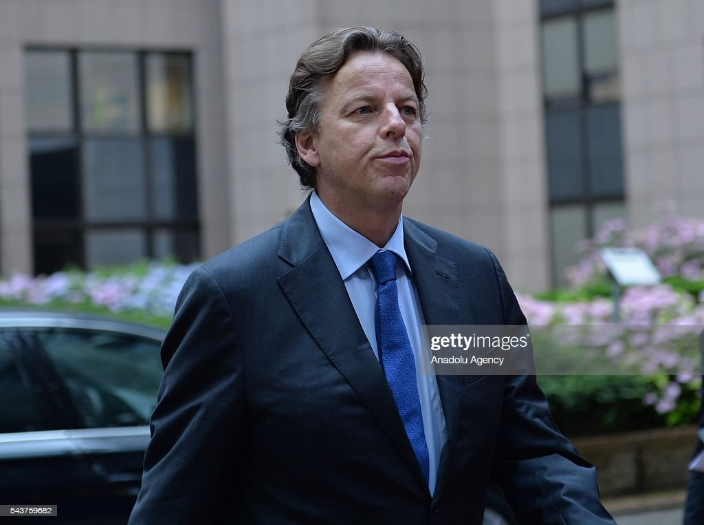 Foreign Affairs Minister of Holland Bert Koenders is seen at the Chapter 33 on financial and budgetary provisions as part of the EU-Turkey Intergovernmental Accession Conference in Brussels, Belgium on June 30, 2016.