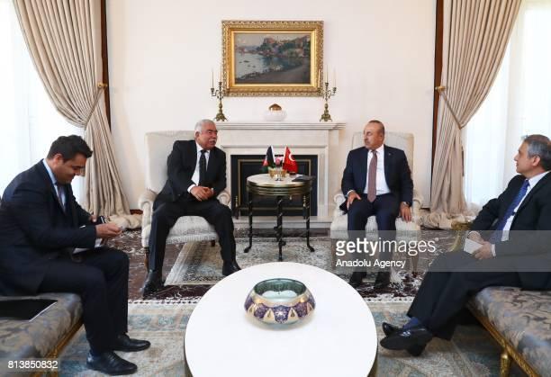 Foreign Affairs Minister of Turkey Mevlut Cavusoglu and First Vice President of Afghanistan Abdul Rashid Dostum meet in Ankara Turkey on July 13 2017