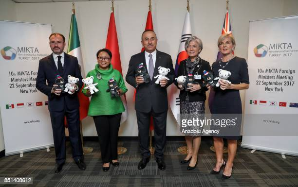 Foreign Affairs Minister of Turkey Mevlut Cavusoglu Foreign Affairs Minister of Mexico Luis Videgaray Foreign Affairs Minister of Indonesia Retno...