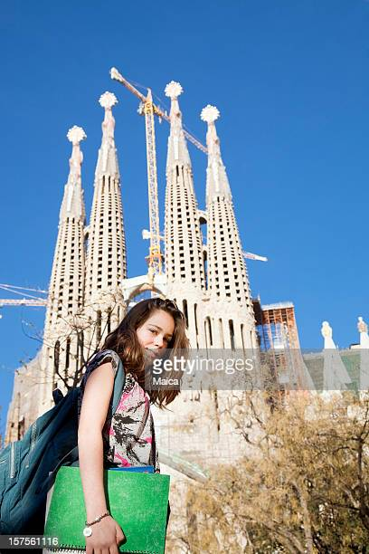 Foreign child student in Barcelona