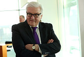 Foreign Minister FrankWalter Steinmeier arrives for the weekly German federal Cabinet meeting on February 17 2016 in Berlin Germany High on the...