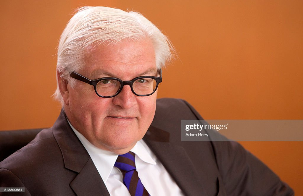 Foreign Minister <a gi-track='captionPersonalityLinkClicked' href=/galleries/search?phrase=Frank-Walter+Steinmeier&family=editorial&specificpeople=603500 ng-click='$event.stopPropagation()'>Frank-Walter Steinmeier</a> (SPD) arrives for the weekly German federal Cabinet meeting on June 28, 2016 in Berlin, Germany. High on the meeting's agenda was discussion of policies regarding country's central intelligence agency (Bundesnachrichtendienst, or BND) abroad.