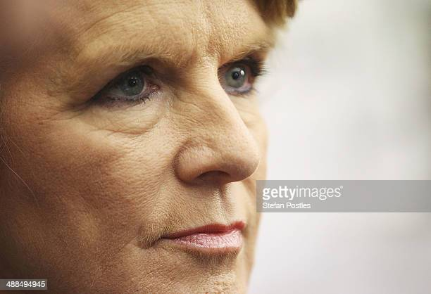 Foreign Minister Julie Bishop takes time out of the Government cabinet meeting to launch the Mid Winter Ball at Parliament House on May 7 2014 in...