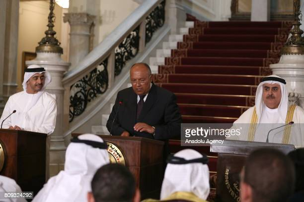 Foreign Minister of Bahrain Khalid bin Ahmed Al Khalifa Foreign Minister of Egypt Sameh Shoukry Minister of Foreign Affairs of the United Arab...