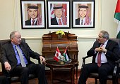 Foreign Minister of Canada Rob Nicholson and Nasser Judeh Foreign Minister of Jordan are seen during a meeting at the Foreign Ministry building in...