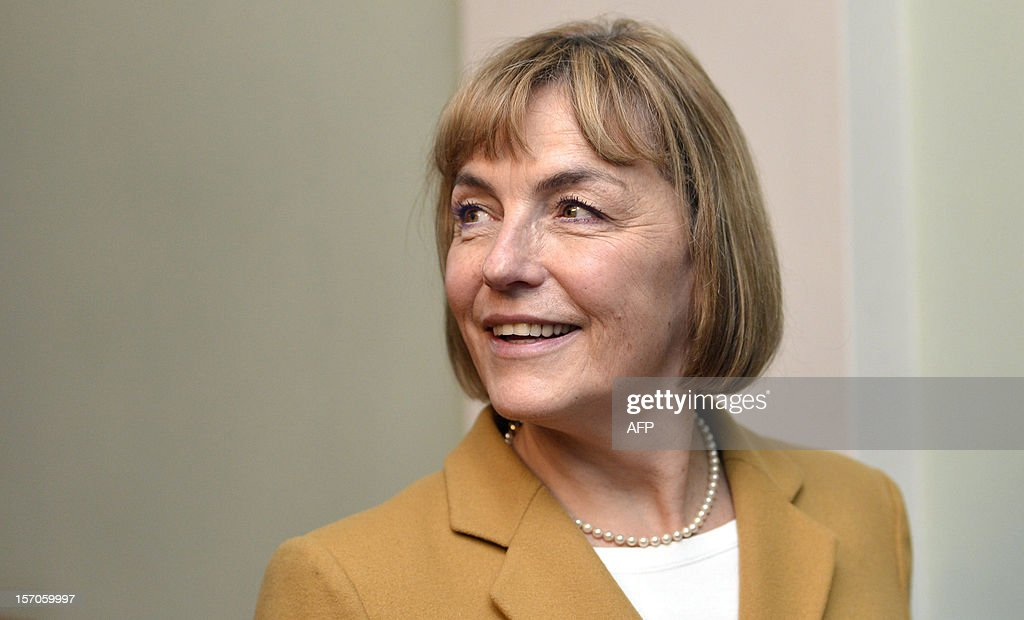 Foreign Minister of Croatia, Vesna Pusic smiles during her visit to Helsinki, Finland, on 28. November 2012.