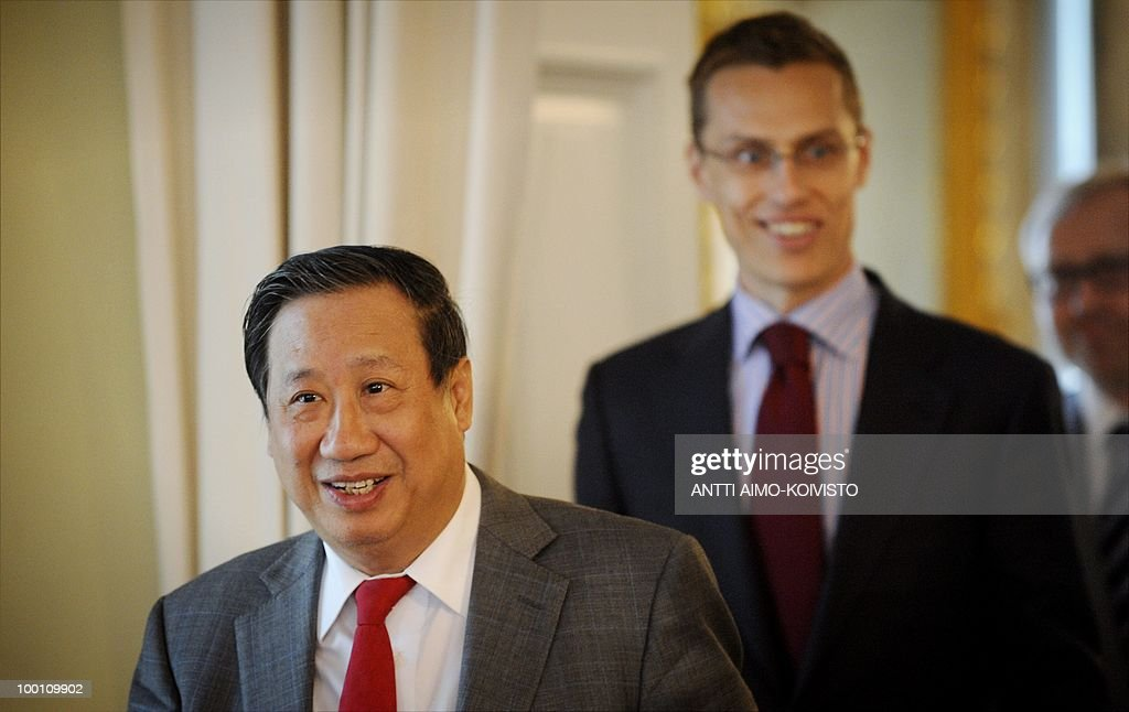 Foreign Minister of Finland, Alexander Stubb (right) and Foreign Minister of Vietnam, Pham Gia Khiem meet in Helsinki, on May 21, 2010.