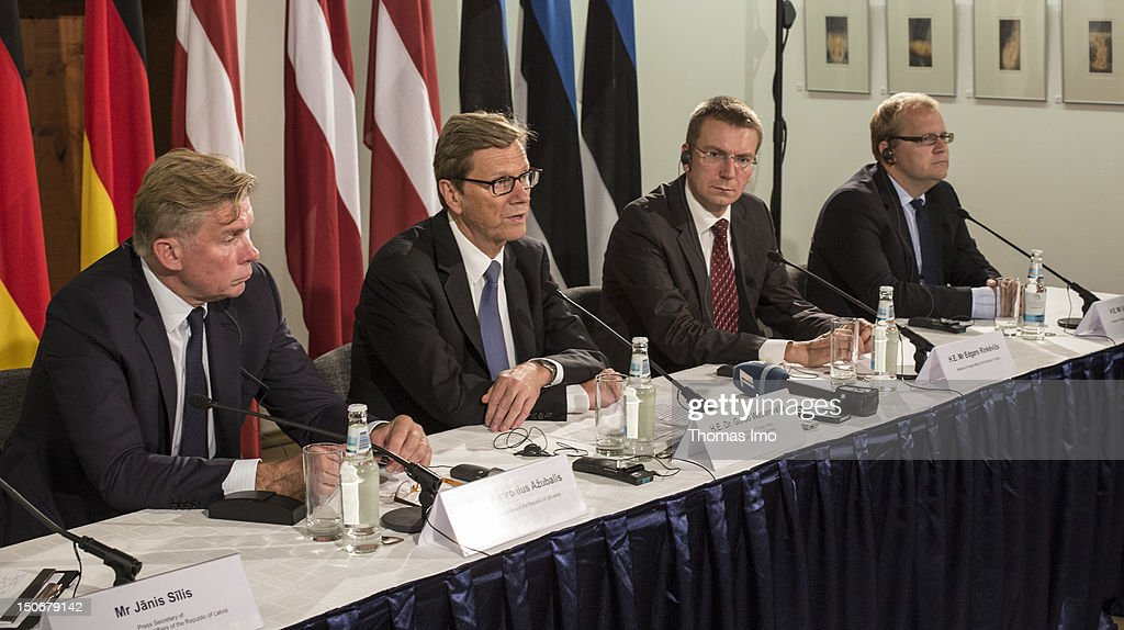 German Foreign Minister Westerwelle Visits Latvia