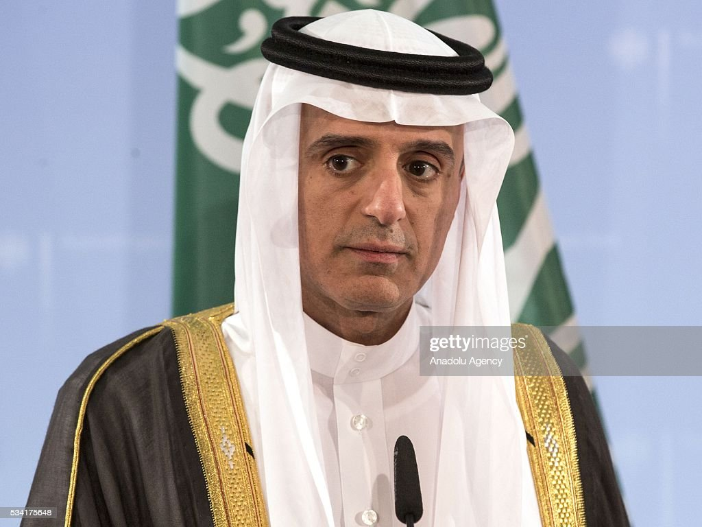 Foreign Minister of Saudi Arabia Adel al-Jubeir listens during a joint press conference with his German counterpart after their talks in Berlin, Germany on May 25, 2016.