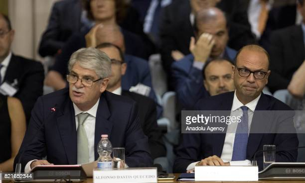 Foreign Minister of Spain Alfonso Dastis and Italian Foreign Minister Angelino Alfano attend the12th Conference of the Ambassadors of Italy at the...