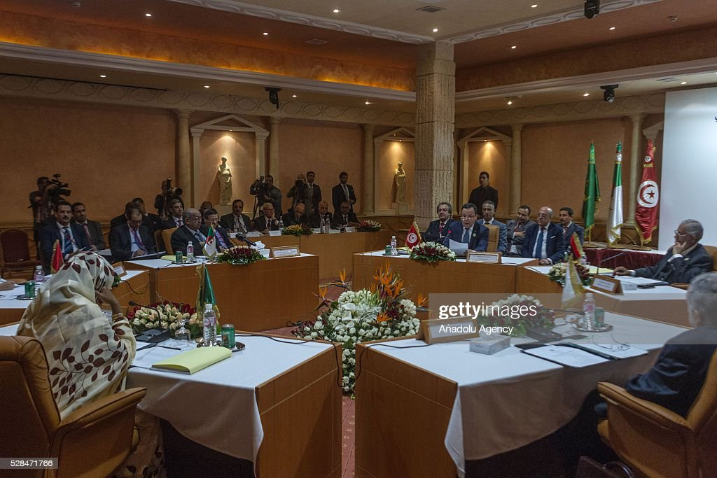 Foreign Ministers of Arab Maghreb Union meet for 34th term meeting at Golden Tulip in Tunis, Tunisia on May 5, 2016.