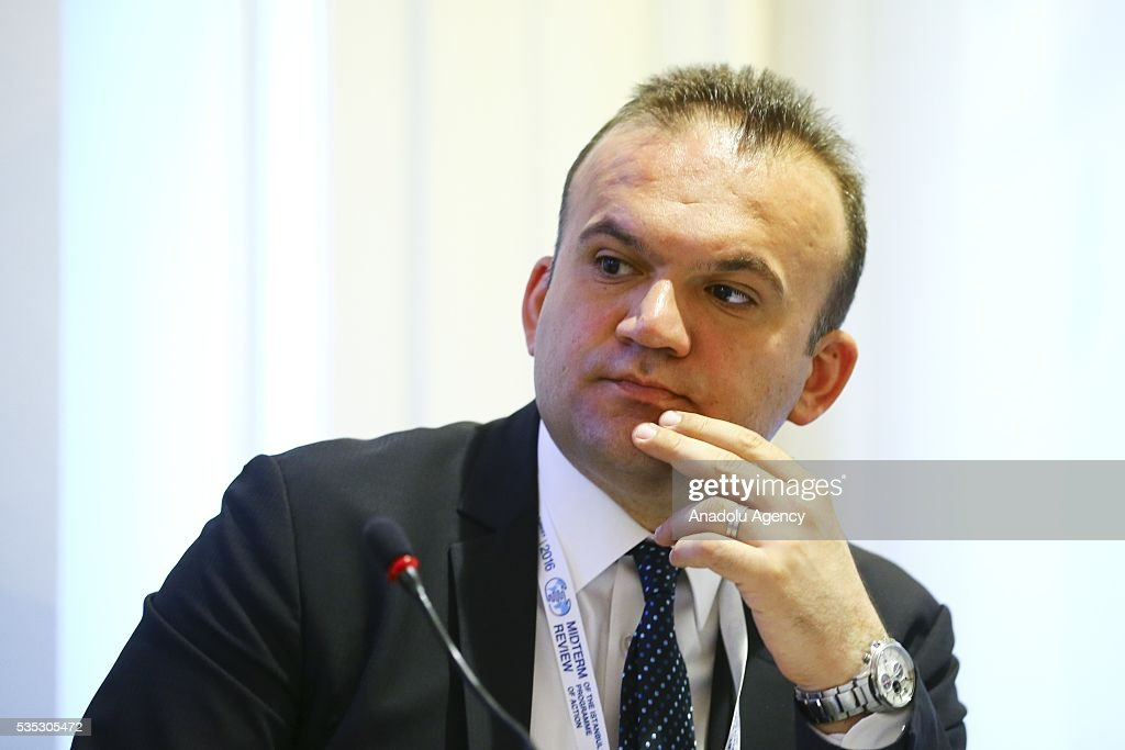 Foreign Relations expert Yahya Gulseven attends a session during the Midterm Review of the Istanbul Programme of Action for the Least Developed Countries in Antalya, Turkey on May 29, 2016.