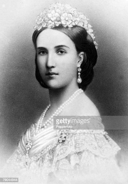 Foreign Royalty ExEmpress Charlotte 'Carlota' of Mexico who in her life was Empress of Mexico Charlotte of Belgium and Archduchess of Austria and...
