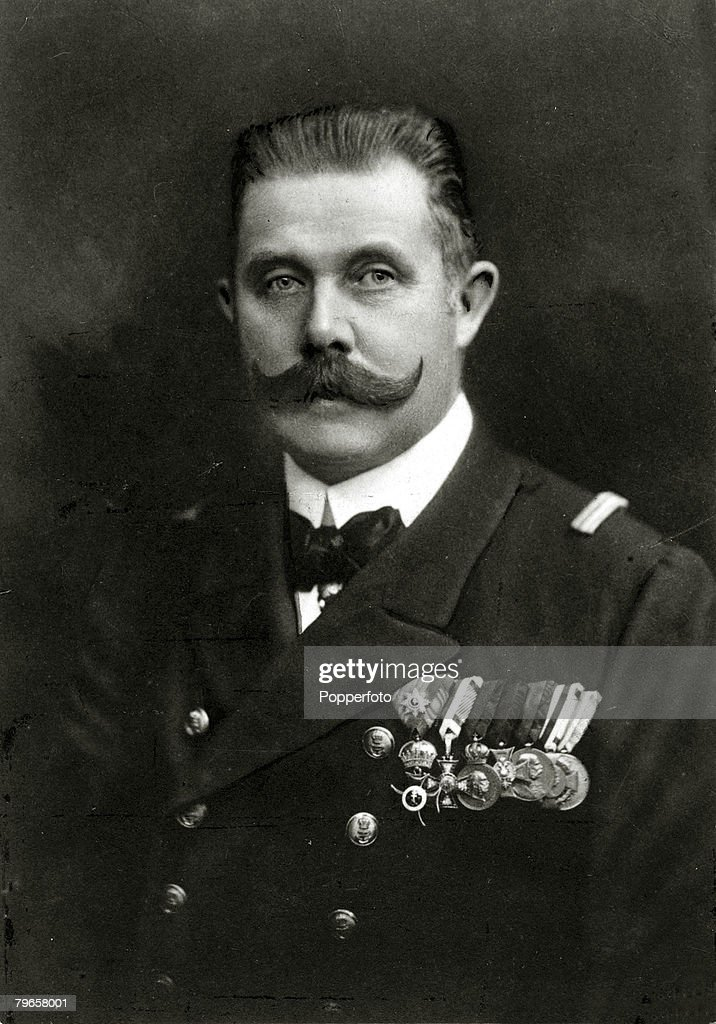 circa 1910s, The Archduke of Austria,Franz Ferdinand, portrait, Archduke Franz-Ferdinand, (1863-1914), heir to the Austro-Hungarian empire, was assassinated in Sarajevo in 1914, an incident that precipitated World War One