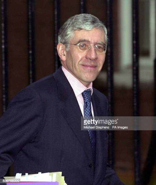 Foreign Secretary Jack Straw arrives for a cabinet meeting in Downing Street London * 21/01/02 Jack Straw was kicking off a threeday tour of...