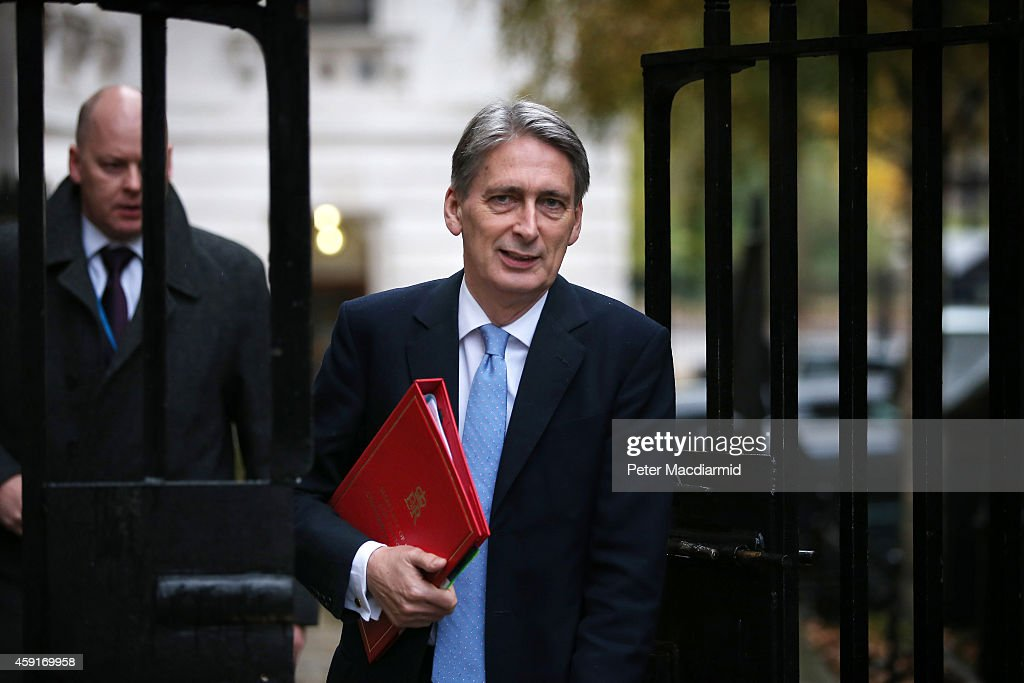 Foreign Secretary <a gi-track='captionPersonalityLinkClicked' href=/galleries/search?phrase=Philip+Hammond&family=editorial&specificpeople=2486715 ng-click='$event.stopPropagation()'>Philip Hammond</a> arrives in Downing Street on November 19, 2014 in London, England. The government are holding an emergency security meeting do discuss the Islamic State terrorism threat.