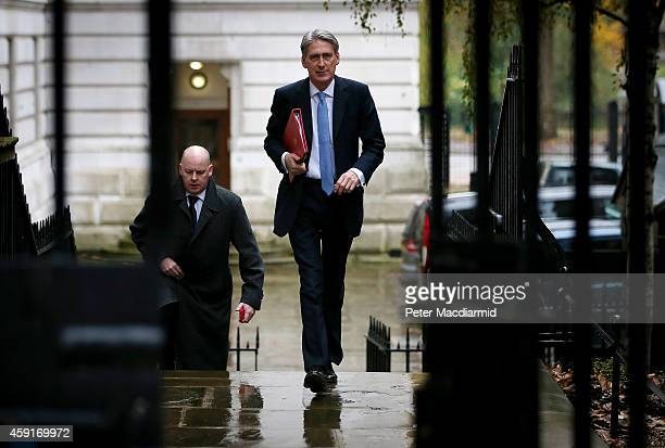 Foreign Secretary Philip Hammond arrives in Downing Street on November 19 2014 in London England The government are holding an emergency security...