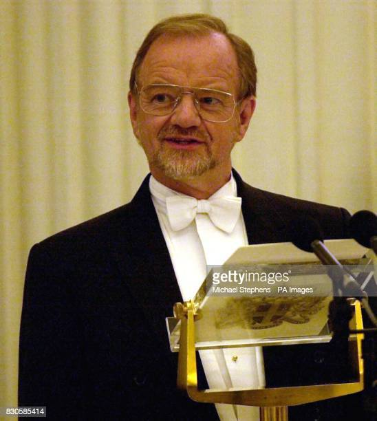 Foreign Secretary Robin Cook during his speech at the Mansion House Easter Banquet hosted by The Lord Mayor of the City of London Alderman David...