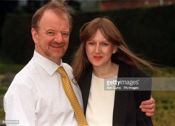Foreign Secretary Robin Cook pictured with his partner Gaynor Regan at his official residence at Chevening House in Kent today where the couple are...