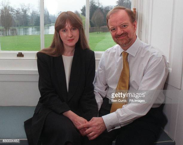 Foreign Secretary Robin Cook with his partner Gaynor Regan at his official residence at Chevening House in Kent today where the couple are to marry...