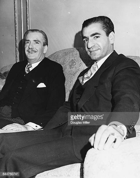 Foreign Secretary Sir Anthony Eden and the Shah of Persia sitting together at the Persian Embassy in London February 17th 1955
