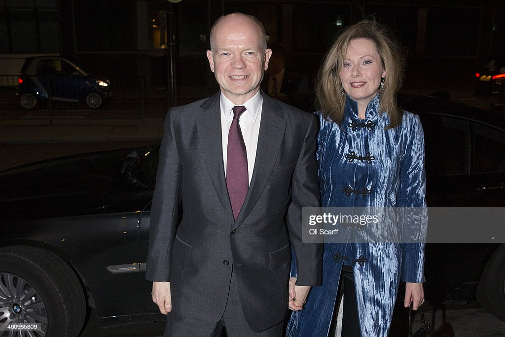 Foreign Secretary William Hague and his wife Ffion Jenkins arrive at the Old Billingsgate Market to attend the the annual Conservative Party Black...