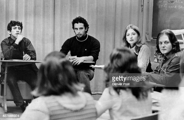 Foreign Students At Alameda High Participate In French Class Discussion With Miss Jana Brill teacher second from right are from left Vincent R Odeh...