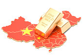 Foreign-exchange reserves of China concept, 3D rendering isolated on white background