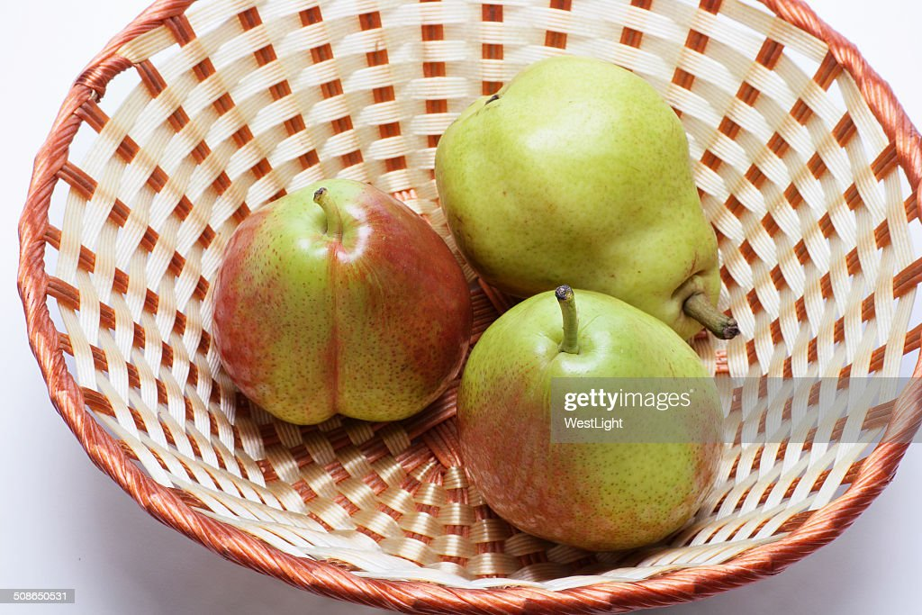 Forelle Pears in Basket : Stock Photo